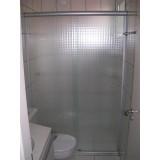 Box de banheiro fosco no Tucuruvi