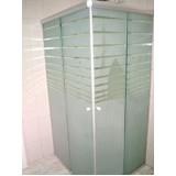 Box de banheiro jateados preço em Brasilândia