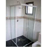 Box de vidro para banheiro menores preços no Parque do Carmo