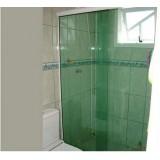 Box de vidro para banheiro onde fazer em Santo Amaro